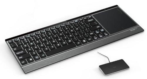 Rapoo E9090P beleuchtete Wireless Touchpad Tastatur (deutsches Tastaturlayout, QWERTZ) schwarz
