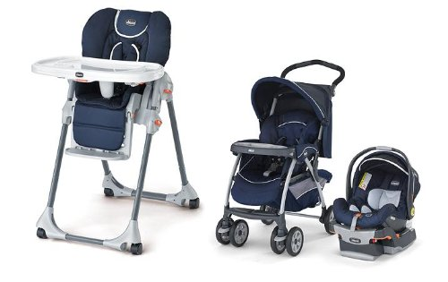 Chicco High Chair & Travel System in pegaso