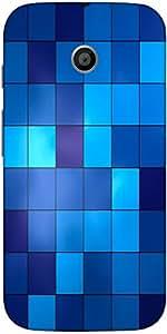 Snoogg Digital Squares Case Cover For Moto E