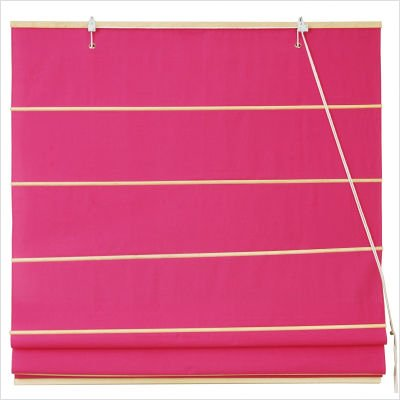 Cotton Roman Shades Blinds in Pink Width: 72