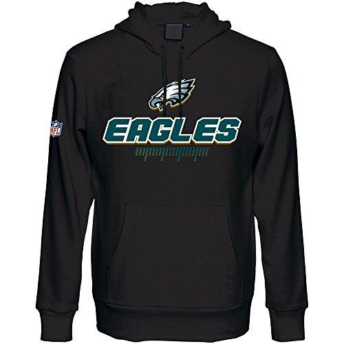 Majestic Philadelphia Eagles Fanwear cappuccio NFL Felpa Nero Black XX-Large