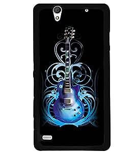 Printvisa Blue Electrified Guitar Back Case Cover for Sony Xperia C4 Dual E5333 E5343 E5363::Sony Xperia C4 E5303 E5306 E5353
