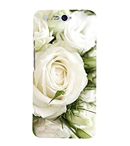 Vizagbeats White Flowers Bunch Back Case Cover for Infocus M812