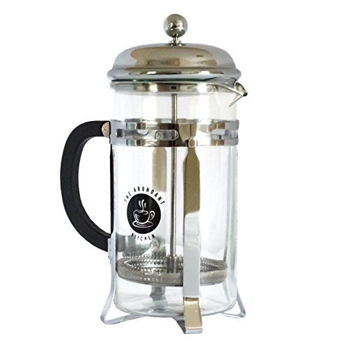 The Abundant Kitchen Professional French Press and Tea Infuser (1 Liter, 34 Oz) (25 Oz French Press compare prices)