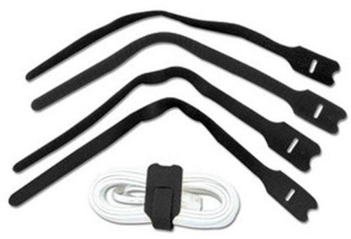 Lindy 300Mm Hook And Loop Cable Tie, 10 Pack, Black (40795)