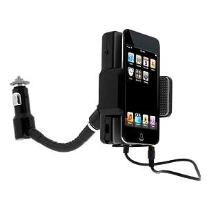 GTMax Black 3.5mm FM Transmitter Car Charger for Verizon LG Revolution