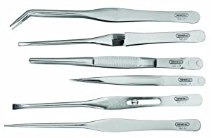 General Tools & Instruments C421 Tweezer Set, Six-Piece