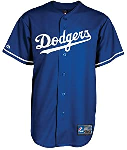 Majestic Los Angeles Dodgers MLB Replica Jersey, Youth Size, Royal Blue Alternate by Majestic