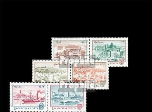 Ungarn 2805A-2810A Paar (kompl.Ausg.) gestempelt 1972 100 Jahre Budapest (Briefmarken für Sammler)
