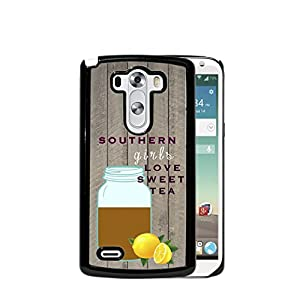 Girls Love Sweet Tea Quote Mason Jars Lemons Wood Pattern LG G3 Hard ...
