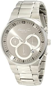 Kenneth Cole New York Men's KC9162 Classic 3500 Series Round Chronograph Contemporary Sub-Eye Grey Watch