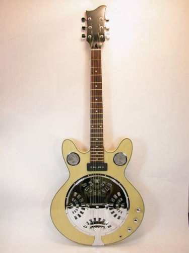 Electric Resonator Guitar - Blonde - Soap Bar + Piezo
