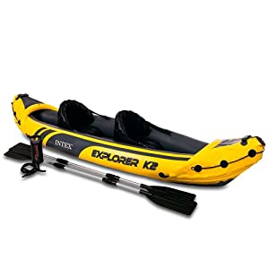 Intex Explorer K2 - Kayak, color amarillo, talla 312x91x51 cm