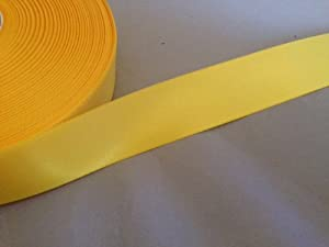 25mm Satin ribbon Yellow in 5mtrs
