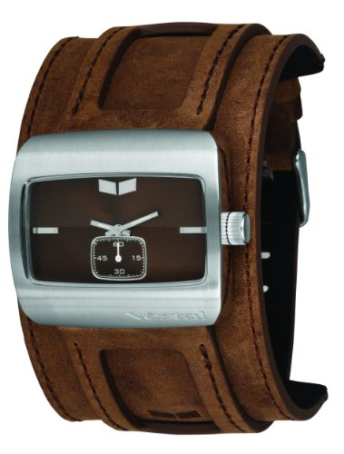 Vestal Men's SN033 Saint Distressed Brown Leather Cuff Watch