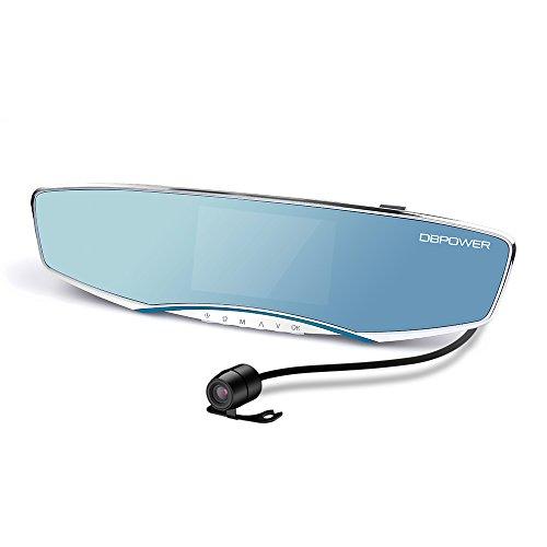 DBPOWER 1080P Telecamera AUTO Telecamera di sicurezza Dash Cam per cruscotto auto con obiettivo doppio, retrovisore a visuale estesa, display da 5 pollici (M65F)