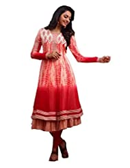 Zohraa Off White And Red Faux Georgette Anarkali Suit - Z1928P2036-11