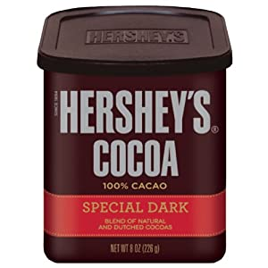 Hershey's Special Dark Chocolate Cocoa, 8-Ounce Cans (Pack of 6)