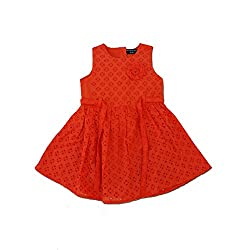 Snoby Hakoba Material Frock Red _5-6yrs (SBYK1326)