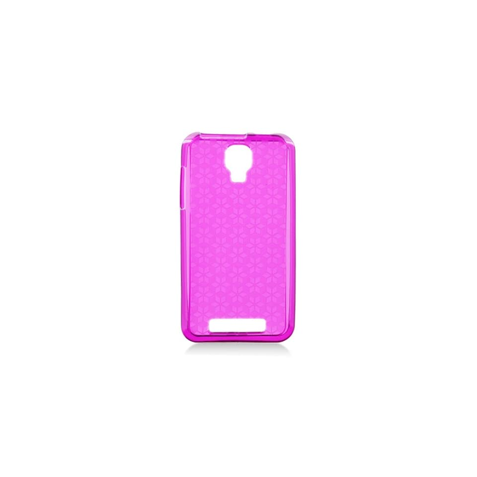 Pink Clear Patterned Flex Cover Case for ZTE Engage Cricket V8000 Cell Phones & Accessories