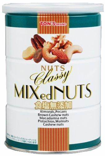 東洋ナッツ 食塩無添加クラッシーミックスナッツ 缶 360g »