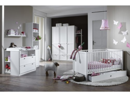 Babyzimmer Kinderzimmer Schrank Wickelkommode Bett Filou 8-teilig