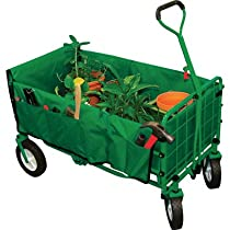 200 lb Capacity Green Folding Wagon