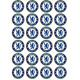 Chelsea Crest style 24 Edible Wafer Paper Fairy/Cup Cake Toppers on an A4 sheet - Birthday Cake and Party Idea