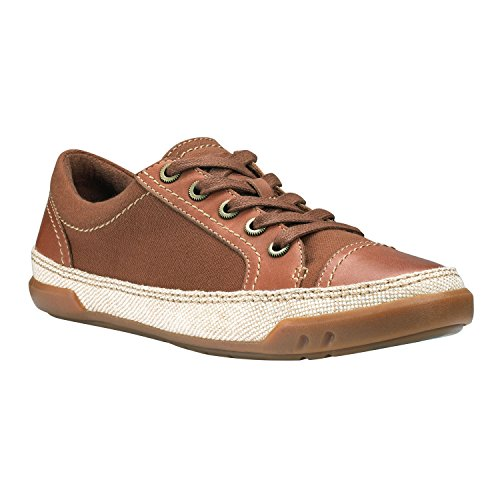 pictures of Timberland Women's Northport Oxford Glazed Ginger/Brown Herringbone Sneaker 9 B (M)