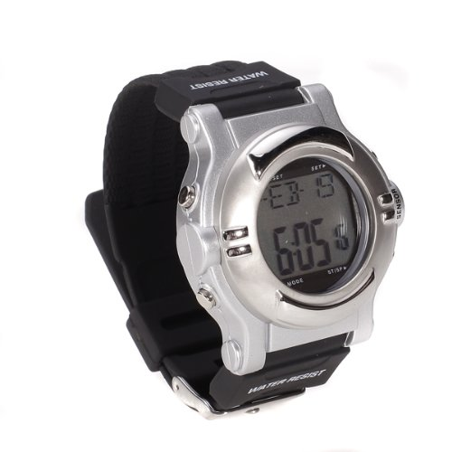 Large LCD Quick Touch Technology ECG Strapless Heart Rate Monitor Calorie Calculator Pulse Watch
