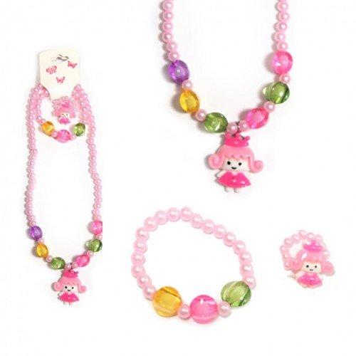 sg paris kid jewelry set kids jewelry set 3 pieces multicolor plastic