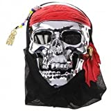 Pirates of the Caribbean Mask Cosplay Props -Halloween Mask - DIY Cosplay Costume (Make Your Halloween Mask Outstanding) for Halloween, Cosplay, Prom, Night Party (Silver Mask)