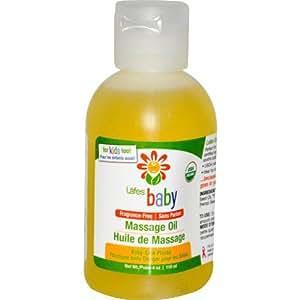 Lafe's Natural Body Care, Bebé, Aceite de masaje, sin fragancia, 4 oz (118 ml)