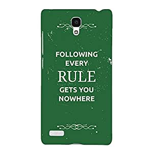 Jugaaduu SUITS Quotes Back Cover Case For Redmi Note 4G