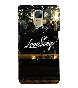 Fuson Premium Back Case Cover Love story With Brown Background Degined For Huawei Honor 7