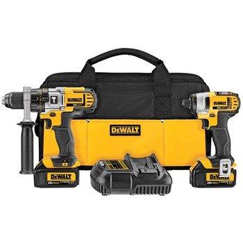 Dewalt DCK290L2R 20-volt MAX Li-Ion 3.0 Ah Hammer Drill and Impact Driver Combo Kit - Factory Serviced