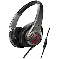 Audio-Technica ATH-AX5iS Over-Ear 3.5mm Headphones (Gray)