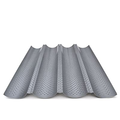 Four-Loaf French Baguette Bread Pan - Non-Stick, Perforated