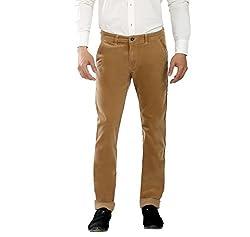 Scotlane CD Basic Khaki Brown Corduroy Pant