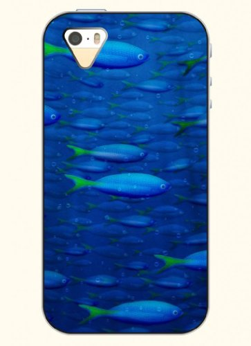 Oofit Phone Case Design With Fish Swimming In Deep Sea For Apple Iphone 4 4S 4G front-423252