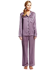 Per Una Revere Collar Satin Spotted Pyjamas