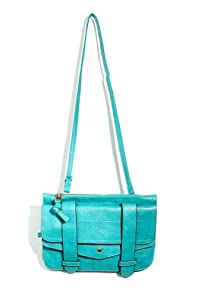 Strapped Up Outlined Satchel in Turquoise