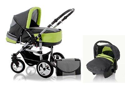 besten standardkinderwagen kinderwagen flash s 3 in 1 inkl autokindersitz in design. Black Bedroom Furniture Sets. Home Design Ideas
