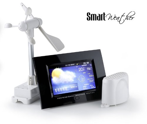 Colour professional wireless weather station with 7 TFT screen and ...