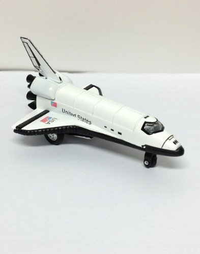 "Die Cast Metal 5"" White Space Shuttle w/ Pull Back Action"