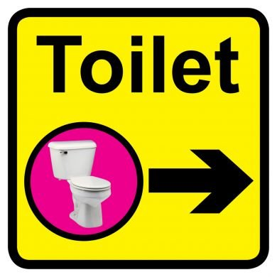 Square Toilet Sign for Dementia