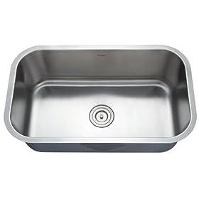 Kraus Stainless Steel 30 inch Undermount 16 gauge Single Bowl Kitchen Sink