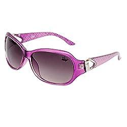 Bling Black Gradient Mercury finish Oval Sunglasses for Women (BS1005 008)