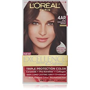 Loreal Excellence Triple Protection Hair Color Creme 4AR Dark Chocolate Brow