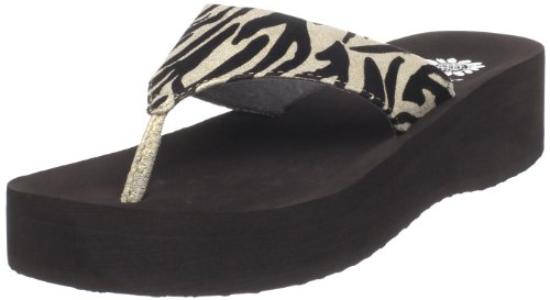 Yellow Box Women'S Bamboo Wedge Sandal,Gold,5.5 M Us front-322625